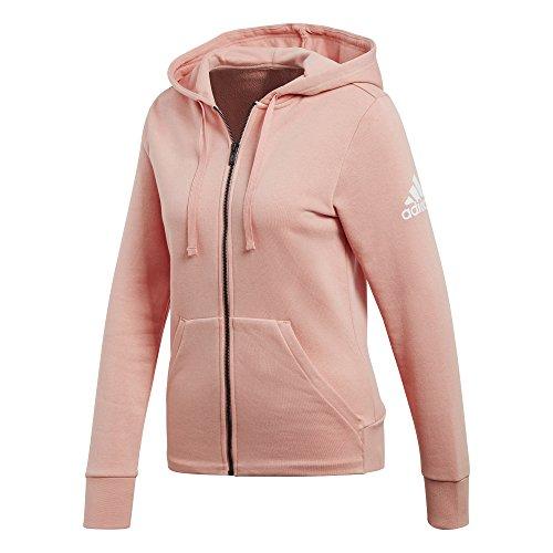 rosa Solid Zip adidas rostra Full Essentials con cappuccio q1PHwpFHxY