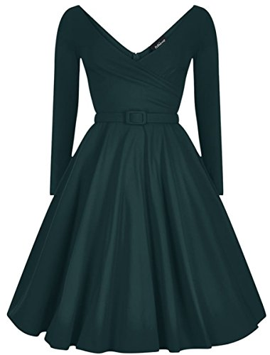 Damen Petrol Wrap Nicky Vintage Dress Swing Kleid Collectif OdUqFF