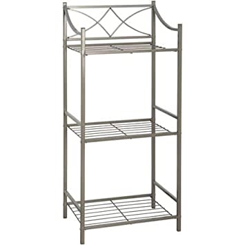 amazon com zenith products chapter metal bathroom floor storage rh amazon com bathroom metal storage shelves bathroom metal shelving units