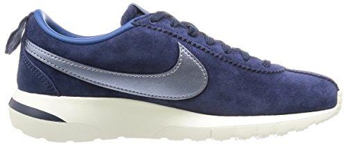 Nike W Roshe Cortez Nm Prm Suede, Zapatillas de Deporte para Mujer Azul Marino (Mid Navy / Mtlc Bl Dsk-Crt Bl-Sl)