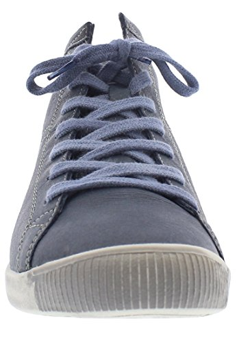 Softinos Isleen Dames Hoge Sneaker Donkerblauw