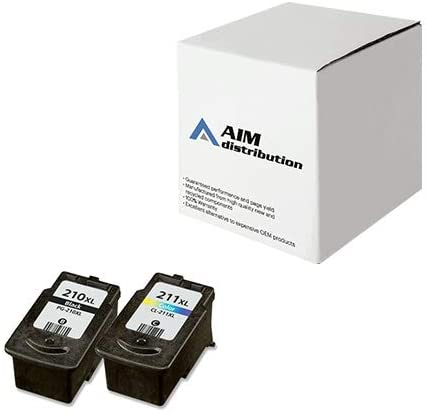 - Generic 2970B010 AIM Compatible Replacement for Canon CL-211XL//PG-210XL Inkjet Combo Pack Black//Color