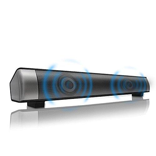 boupower Bluetooth Subwoofer 2.0Channel Speaker & Barra de sonido con 1800mAh batería, tarjeta TF, AUX, entrada de USB...