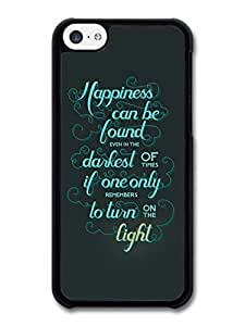 Happiness Can Be Found Harry Potter Light Quote case for iPhone 5C wangjiang maoyi