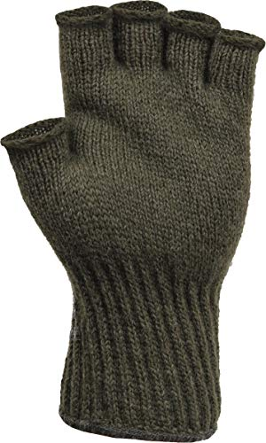 Fingerless Wool Glove Military GI Govt Issue (Foliage Green)