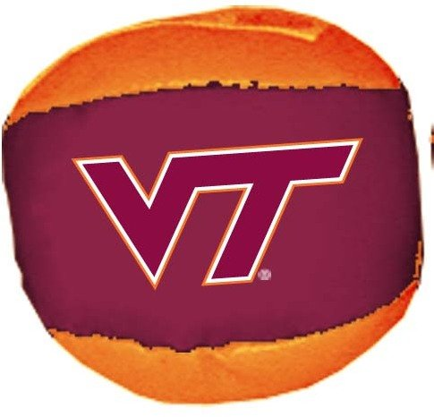Game Day Outfitters 1937119 Virginia Tech - Ball Hackysack 24 DP - Case of 144 by Game Day Outfitters