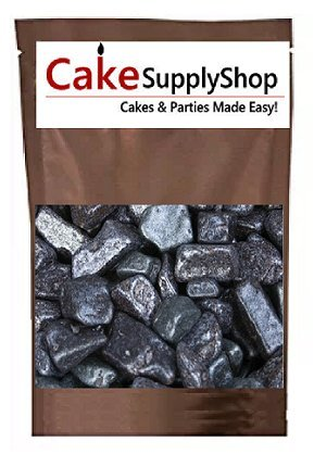 Edible Gem Stones Beach River Sea Side Chocolate Rocks For Cake Decoration and Candy Buffets (8oz - Candy Stone