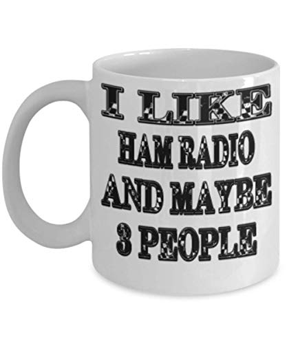 Funny Ham Radio Gifts 11oz Coffee Mug - Maybe 3 People - Best Inspirational Gifts and Sarcasm ak9744 -