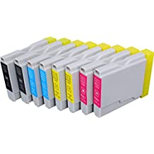 Blake Printing Supply © 8 Pack Compatible Ink Cartridge Replacement for Brother LC-51 , LC51 2 Black, 2 Cyan, 2 Magenta, 2 Yellow