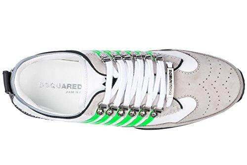 Frühling Grün Weiss 251 Herren DSQUARED2 Sneakers Schuhe 2018 Fluo Sommer wp0aqT