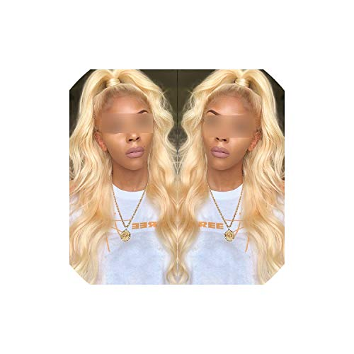 Hair Body Wave Blonde Lace Front Wigs PrePlucked Virgin Human Hair Wigs For Black Women 150% 180% Density,14inches,180% -