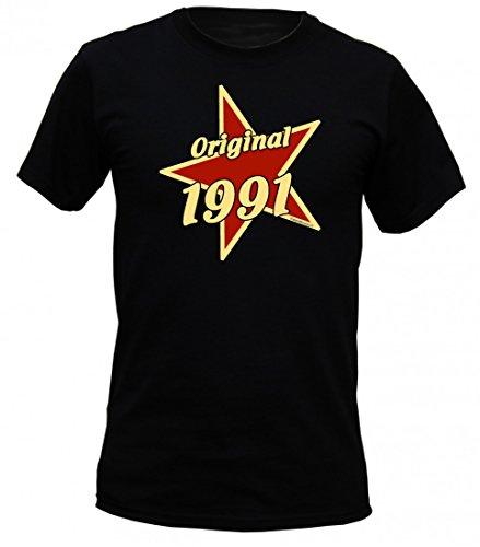 Birthday Shirt - Original 1991 - Lustiges T-Shirt als Geschenk zum Geburtstag - Schwarz