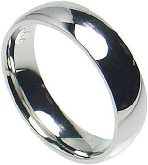 7mm Stainless Steel Comfort Fit Plain Wedding Band Ring Size 6-15