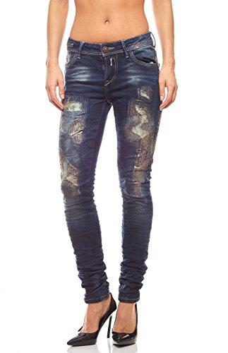 BLUE MONKEY JEANSWEAR Jeans Skinny en Arosol Femme Bleu Black Monkey Jeanswear