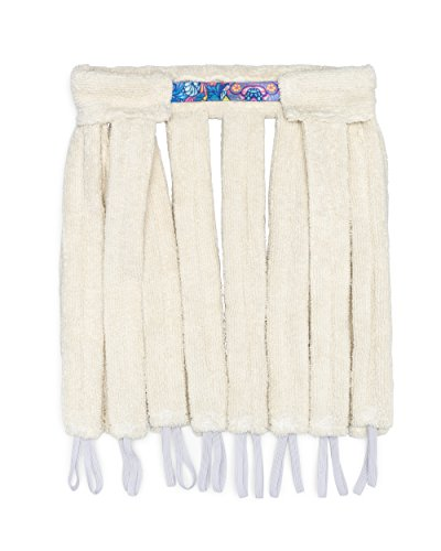 Octocurl: No Heat Curlers - Soft Hair Rollers for Overnight Sleep (Microfiber Antique White)