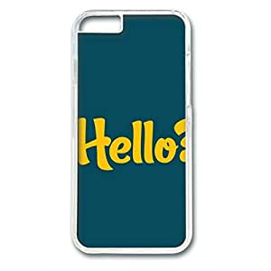 Iphone 6 Plus PC Hard Shell Case Hello Transparent Skin by Sallylotus by runtopwell