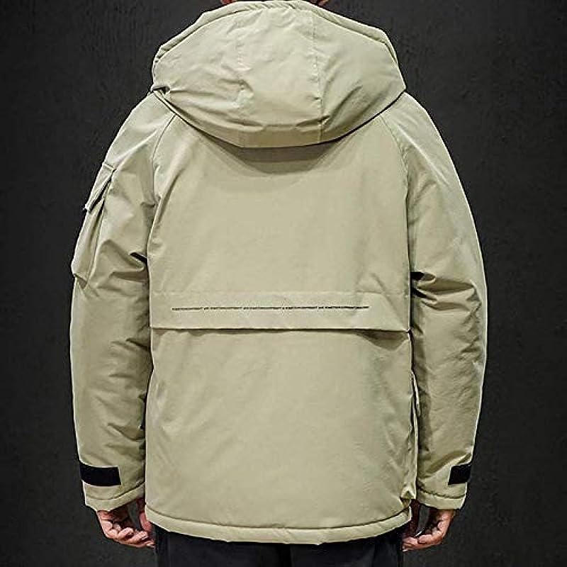 sdfa Men's Jacket Zipper Hoodies Down Warm Coat Cardigan Long Sleeve Windproof Jacket for Outdoor: Odzież