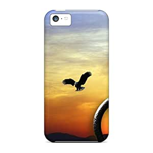 Hot CwqBbog3696BbzpF Case Cover Protector For Iphone 5c- Sunset Hitching Post