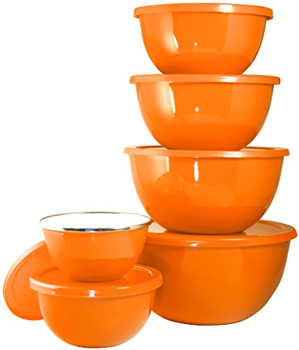 Calypso Basics by Reston Lloyd 12-Piece Enamel on Steel Bowl