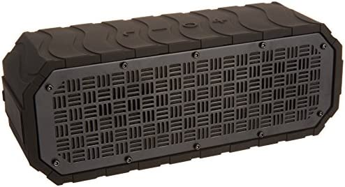 Monoprice Deep Blue 10 Portable Waterproof Bluetooth 3.0 Speaker – Black IPx6 Rated, 9 Hour Battery Life, 32ft Wireless Range, Compatible with Apple, Android, Samsung, Smartphones and Tablets