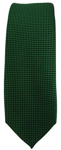 mode étroit TigerTie Designer cravate en vert foncé à pois