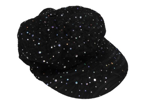 Sparkle Newsboy Caps (Black) (Sparkle Newsboy Cap)