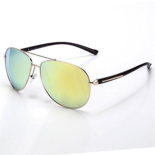 Marco Film Oro Gold Gafas Gold Conducir KOMNY de Film Gold de los polarizada Frame Hombres Gafas Coche polarizada de de de luz Sol 3003 Sol axdpSxU