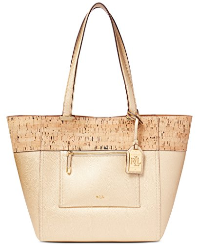 Lauren Ralph Lauren Women's Paley Cork Lauryn Tote Shoulder Handbag 431609745003