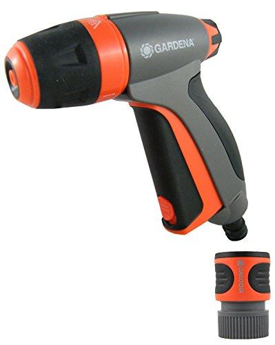 Gardena 32117 Metal Fully Adjustable Spray Gun with Built in Flow Control