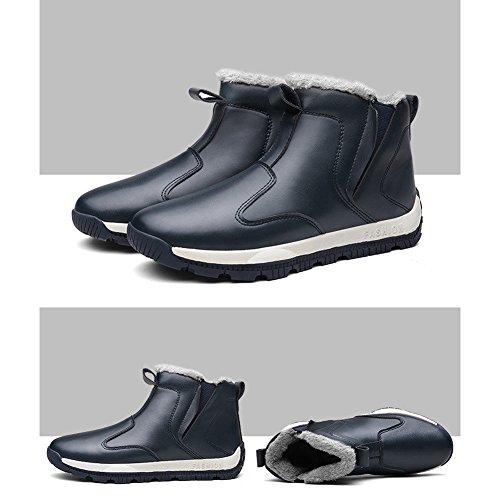 Arke Uomo Caldo Inverno Scarponi Da Neve Stivaletti Alla Caviglia Sneaker Alta Moda Blu Navy