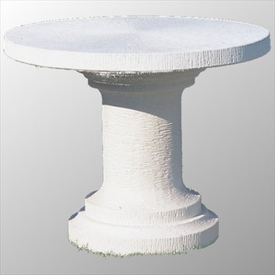 Robuster Gartentisch rund Tisch aus Betonwerkstein