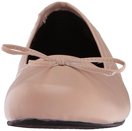 Pleaser Damen Anna-01 Geschlossene Ballerinas Cream Faux Leather