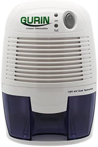Gurin Thermo Electric Mini Dehumidifier, 1100 Cubic Feet, Peltier Technology Dehumidifier Compact and Portable for High Humidity in Home, Kitchen, Bedroom, Basement, Caravan, Office, Garage