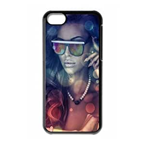 iPhone 5c Cell Phone Case Black Girls glasses Jueyj