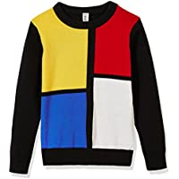 Kid Nation Kids' Sweater Long Sleeve Crew Neck Casual Pullover Color Blocked Cotton Knit Sweater for Boys or Girls