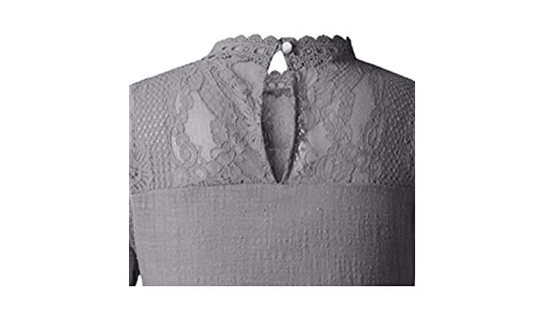YpingLonk Camisa Casual de Manga Corta para Mujer de Encaje Camisa ...
