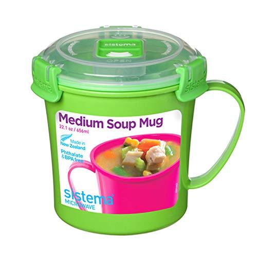 Sistema Microwave Soup Mug, 2.8 Cup, - Safe Cooking Microwave