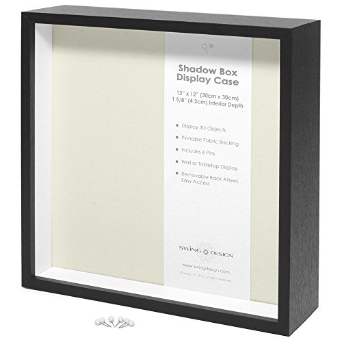 Swing Design Display Shadow Box, Black, 12