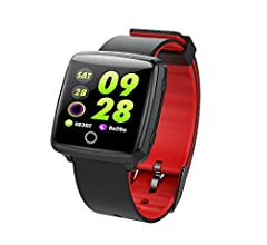 Amazon.com: Touch Screen Bluetooth Smart Watch,Magnetic Suction Charging,Compatible Android 4.4+,iOS 8.0+,P67 Waterproof,Sleep Monitoring, Sports Mode, ...
