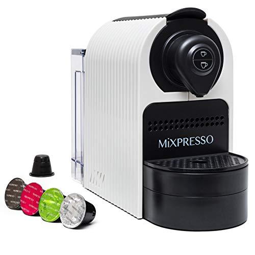 Mixpresso Espresso Machine for Nespresso Compatible Capsule, Programmable Buttons for Espresso and Lungo, Premium Italian 20 Bar High Pressure Pump 27oz 1400W (White)