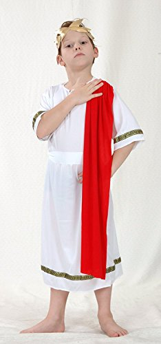 Child Roman Emperor Costume (Henbrandt Little Boys' Roman Emperor Fancy Dres Costume 4-6 Years Multicoloured)