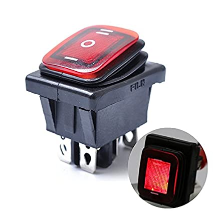 Etbotu on Off on 6 Pin 12 V Auto Boot LED Licht Rocker Kippschalter Rasten Wasserdichte Schalter