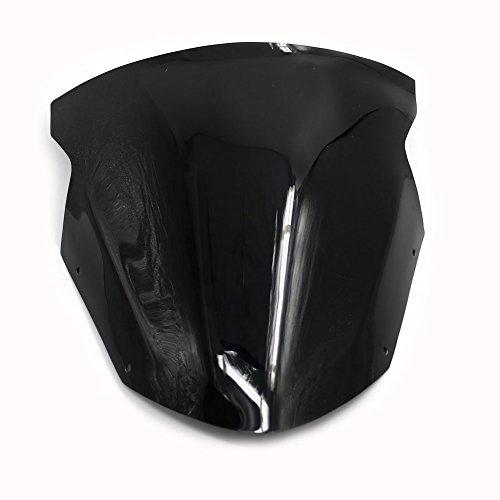 Alpha Rider Black Windscreen Windshield For Kawasaki ER6F 09-11 2010 Ninja 650R