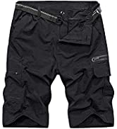 linlon Mens Hiking Shorts Outdoor Casual Lightweight Quick Dry Shorts Tactical Shorts Hiking Carg...