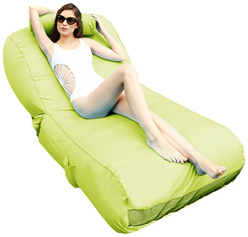 Price comparison product image Ove Decors Aqual Aqua Lime Inflatable Pool Float Lounger