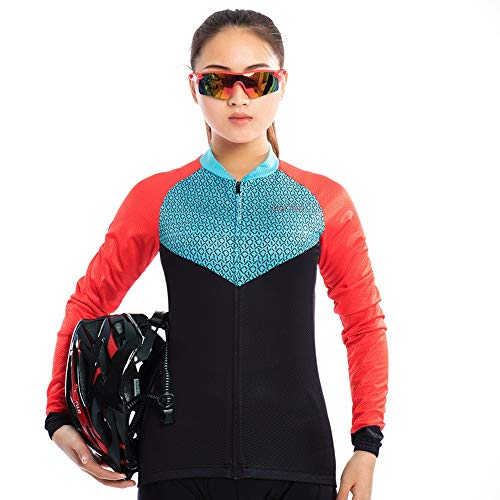 XHYR Womens Cycling Jersey Beautiful Bike Full-Zip Short Sleeve Bicycle Clothing Shirt Jacket Summer Padded Pants Set Outfit