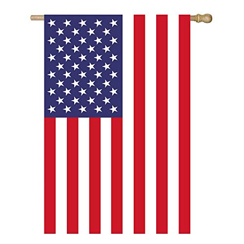 Shmbada American USA House Flag, United States Stars and Stripes Patriotic 4th of July Garden Flag, Double Sided Premium Polyester, Perfect Decor for Outdoor Yard Porch Patio Farmhouse, 28 X 40 Inch