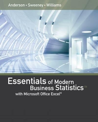 Essentials of Modern Business Statistics with Microsoft Excel cover