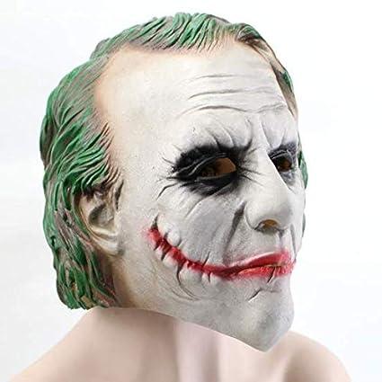JACKII Joker Mask Dark Knight Carnaval y Halloween - Disfraz ...