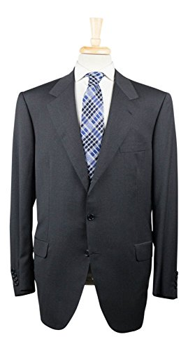 brioni CATONE Charcoal Gray Super 150's Wool 3/2 Button Suit 56/46 R (Super 150's Wool Charcoal Suit)